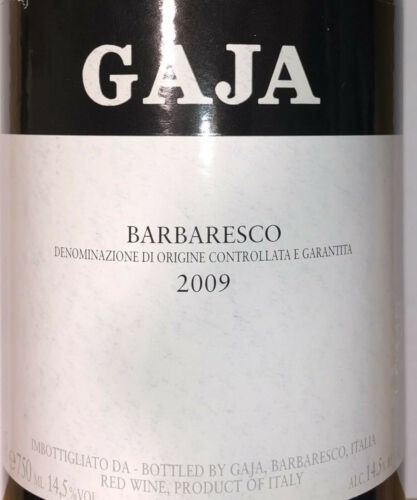Gaja Barbaresco 2009 Parker gibt 93 Punkte!